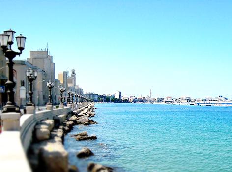 Vedere visitare lungomare di Bari