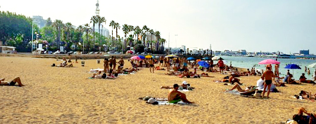 The beach in Bari city