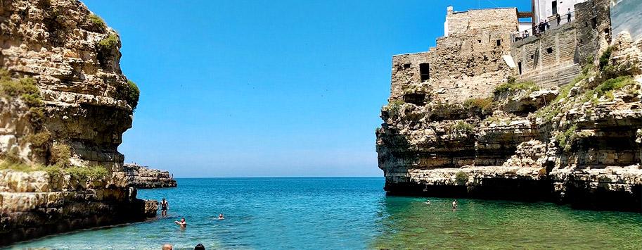 Spiagge calette Polignano Puglia