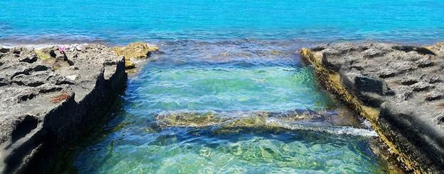 Il Mare e gli scogli di Cozze