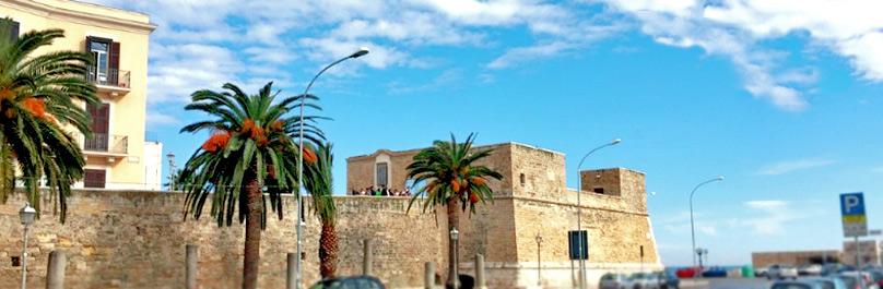 Muraglia di Bari Vecchia in Puglia