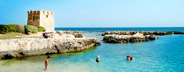 La suggestiva spiaggia di San Vito