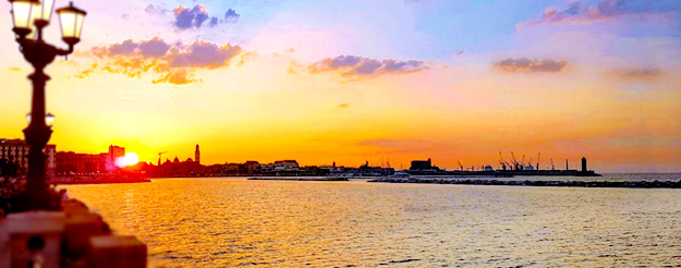 6 strategic points where to see the most beautiful sunsets in Bari