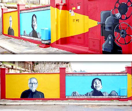 Street art Ennio Morricone Bari