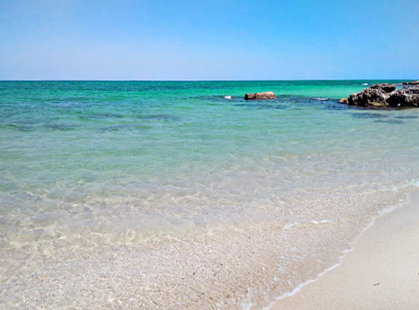 Spiagge mare  vicino Bari Puglia