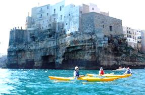 Giro escursione kayak Puglia Polignano