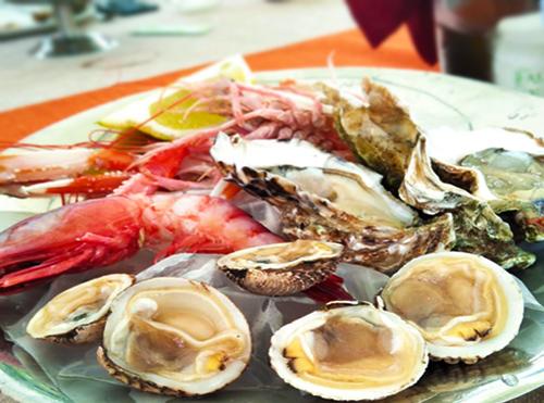 Frutti di mare crudo barese Puglia